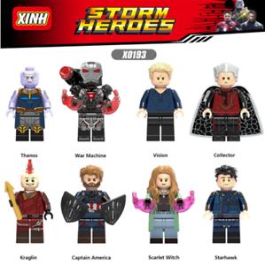 Baukaesten-8PCS-Superhero-Krieg-Superman-Kinder-Modell-Spielzeug-Marvel-039-s-Avenger