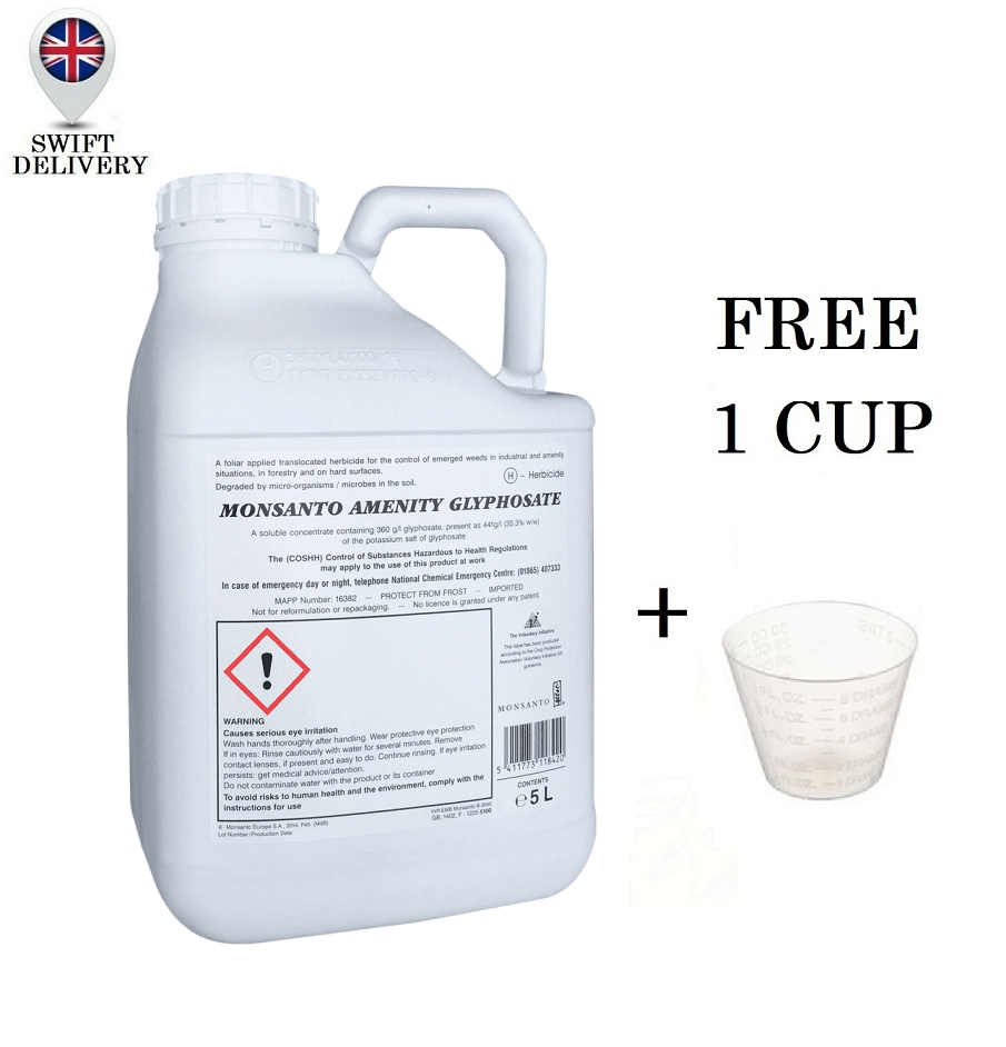 MONSANTO AMENITY GLYPHOSATE XL 5L Very Strong TOTAL WEED CONTROL Pro Weedkiller