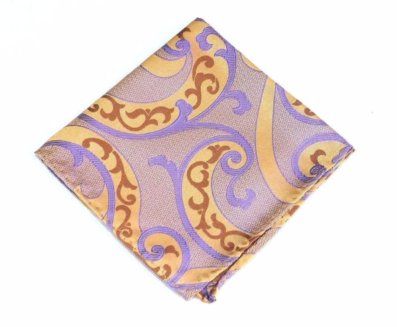 Lord R Colton Masterworks Pocket Square Villarrica Copper Silk - Retail New