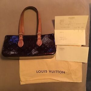 70b3b1548785 Image is loading Louis-Vuitton-Vernis-Rosewood-Av-Amarante-With-Receipt