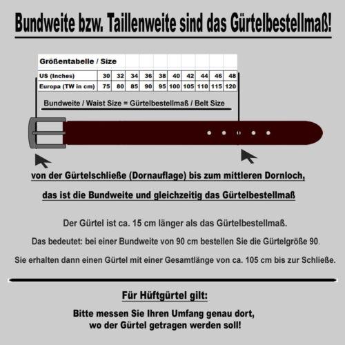 BERND GÖTZ stark reduziert Nietengürtel 4 cm breit Nappaleder Jeansgürtel 402195
