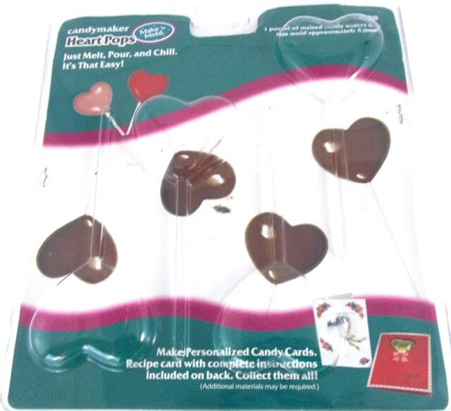 Make N Mold HEART POPS Chocolate Candy Heart Shaped Lollipop Mold #0198
