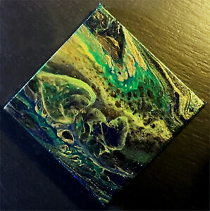 Abstract-acrylic-paint-pour-art-on-Canvas-watching-paint-dry-2-peacock
