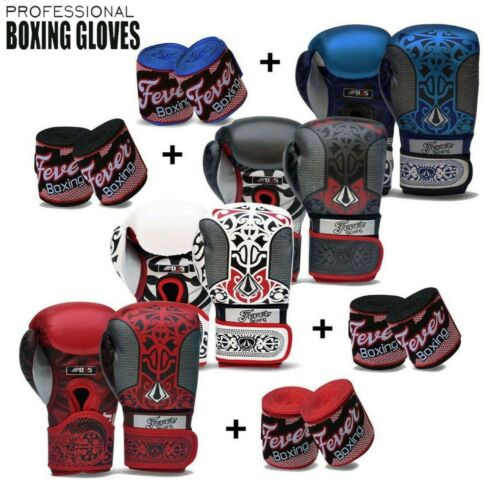 Boxing Gloves Punch Bag Mitts Muay Thai MMA Kick Boxing Fight Training Sparring