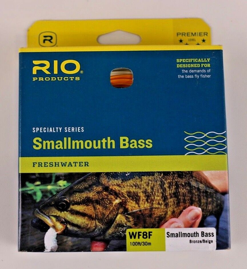 Rio Smallmouth Bass Fly Line WF8F Bronze Beige Free Fast Shipping 6-20276