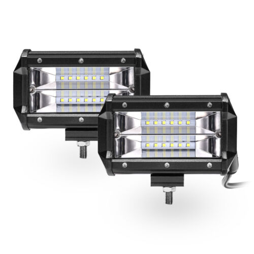 2x 5.2inch 36W Flood LED Pods Light Work Backup Driving Lamp DB-III Ultra Bright