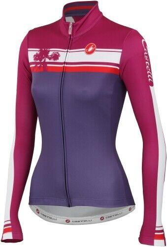 Castelli Palma Femmes Manche Longue Maillot de cyclisme Magenta//Violet