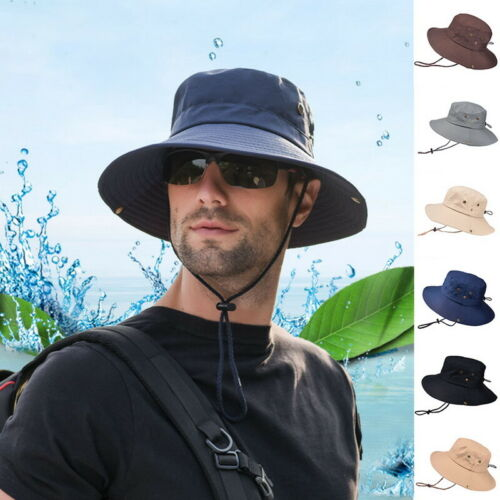 Summer Men/'s Sun Hat Bucket Fishing Hiking Cap Wide Brim UV Protection Hat BO