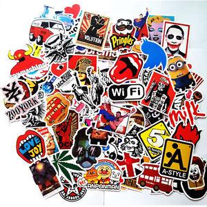 50 pcs Mix Lot Stickers Skateboard Sticker Graffiti Laptop Luggage Car Decals