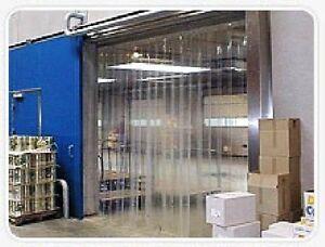 Strip Curtain Garage Door Size 10 X 7 Pvc Vinyl Cooler Freezer 6