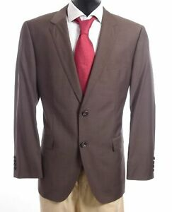 HUGO BOSS Sakko Jacket The James3 Gr.54 braun uni Einreiher 2-Knopf -S607