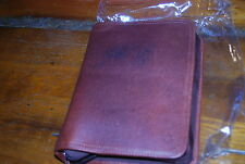 Franklin Covey Classic Planner  DISTRESSED LEATHER BROWN ZIPPER BINDER  STUNNING