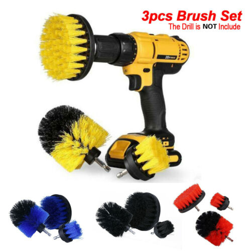 3Pcs//Set Power Scrubber Cleaning Drill Brush Tile Grout Tools Tub Cleaner Combo