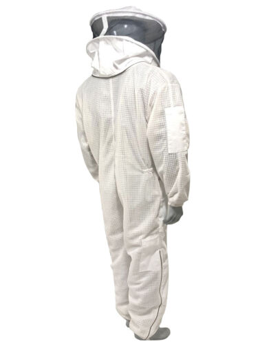 3 Layer Ventilated Suit round and fencing veil bee suit beekeeper round veil
