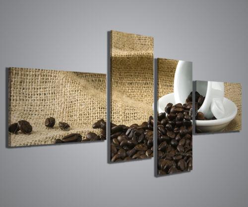 STAMPE SU TELA ARREDO QUADRO MODERNO CAFFE V QUADRI MODERNI 160x70 CM