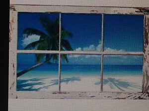 tropical window 24x36 poster wall art decor summer beach island