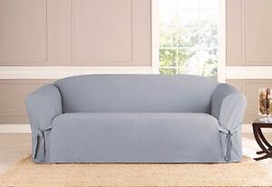 Sofa Sure Fit Slip Cover Slipcover Essential Twill Supreme
