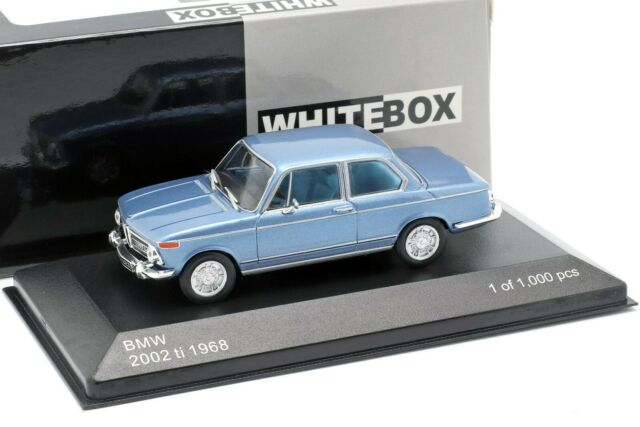 BMW 2002 ti 1968 Light Blue metallic L.E.1/1000 - 1/43 - WHITEBOX