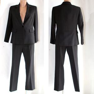 online store fb8e8 c716c Dettagli su Completo ESMO tailleur donna giacca + pantalone nero vestito  abito