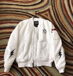 ecec18f9a Details about The Weeknd Alpha industries Rare starboy bomber jacket  Size-XXL Dead stock!