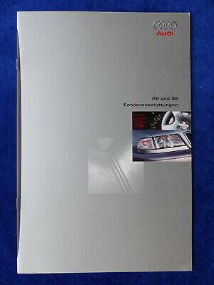 Audi A8 S8 Quattro - Sonderausstattungen - Prospekt Brochure 07.1996 Billigverkauf 50%