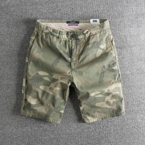 2020 Camouflage Short Fifth Pants Retro Leisure Cotton Blend Pant Trouser 29-36