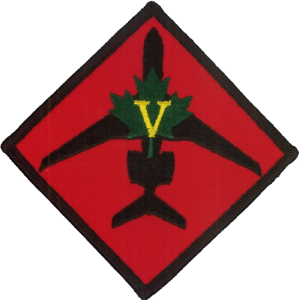No. V 5 AC Squadron RAF Raytheon Sentinel Groundcrew Embroidered Patch
