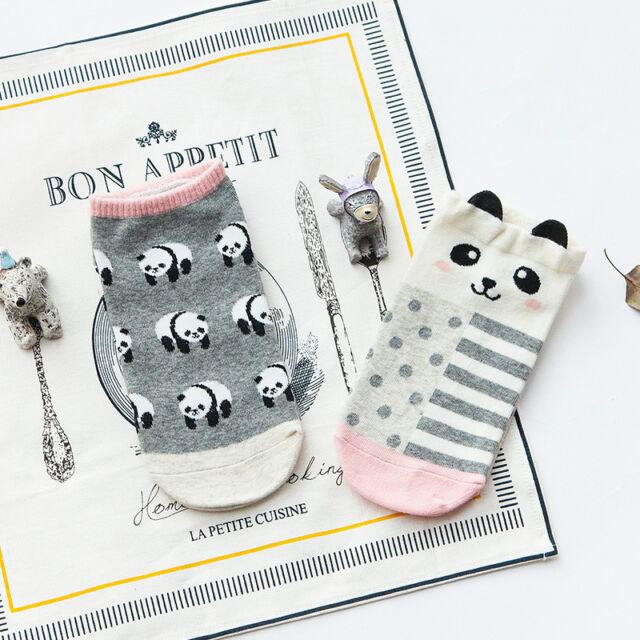 New Womens Girls Cartoon Animal Print Funny Cotton Low Cut Socks Soft Socks Cute