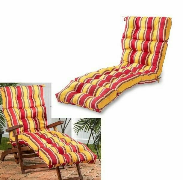 Modern Stripe Outdoor Chaise Lounge Cushion Set Of 6 Thick Patio Chair Cushions