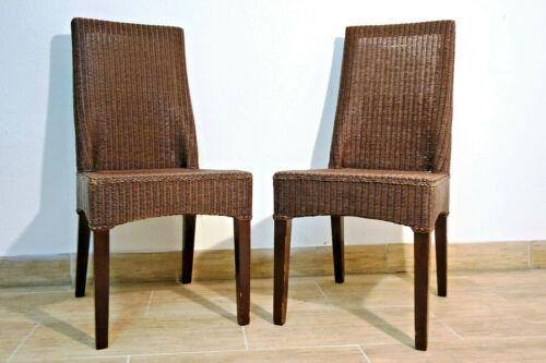 2 Modern Rattan Chairs Woven Chair Set Pair Modern Chair Chaise * 534