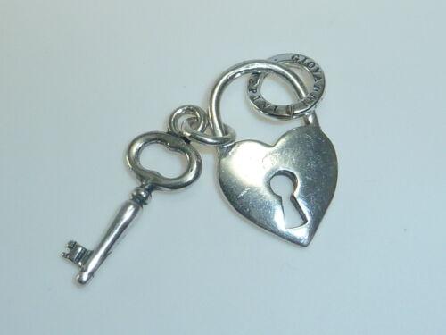 Giovanni Raspini corazón como concluyó con clave 925 plata colgante #6237