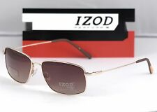 New Izod Sunglasses IZX 90 Gold 57-15-140 w/ Case Performx PFX Memory Metal