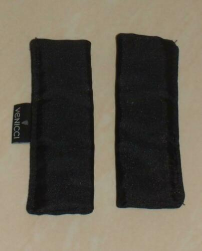 Venicci seat unit harness pads x 2 Black in colour with Venicci logo