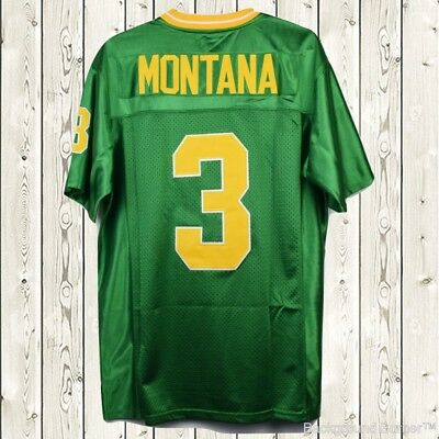 new style a788b 7a5e3 joe montana green jersey