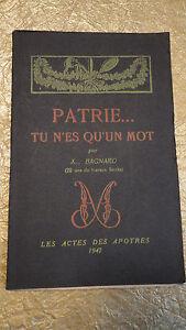 BAGNARD-PATRIE-TU-N-ES-QU-UN-MOT-20-ans-de-travaux-forces-1947