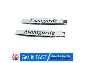 2x-For-Mercedes-Avantgarde-Badge-Emblem-Metal-Chrome-Logo-Sticker-Rear-Trunk