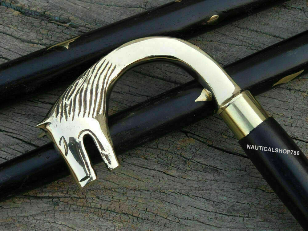 Wolf Head Handle Walking Stick Design Vintage Collectible Walking Stick