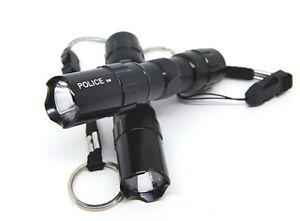 2pc-3w-Light-Mini-Cree-LED-Waterproof-Flashlight-Torch-w-Keychain-Prepper-Lamp