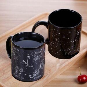 Temperature Changing Coffee Mug Heat Sensitive Ceramic Cup Twelve Constellation