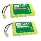 2 pcs 7.2V 1300mAh NiMH Rechargeable Battery Pack Tamiya Plug For RC US Stock