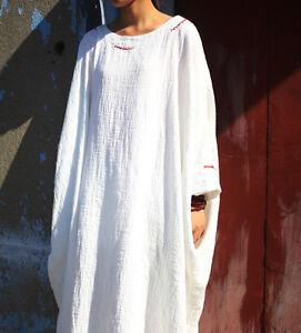 9be7ff466a6 Women long Dress Casual Loose Leisure Maxi Plus Size Cotton Linen ...