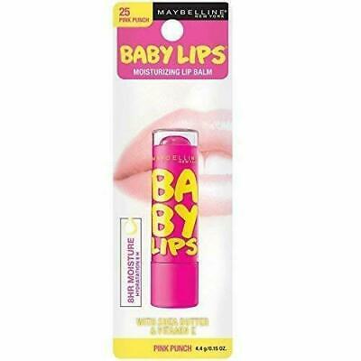 Maybelline New York Baby Lips Glow Lip Balm, Pink Punch, 0