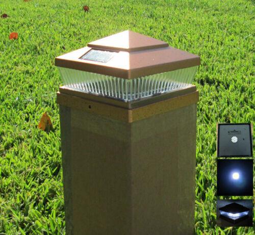 """Post Light For 10-Pc Garden Solar Outdoor Fence Post Cap 4/""""//5/""""//6/"""" White LEDs"""