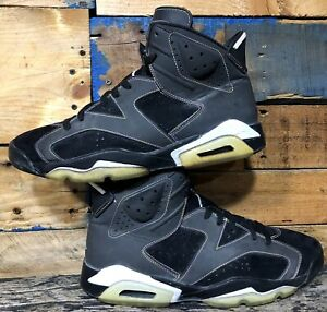 on sale d4359 25bdb Image is loading NIKE-AIR-JORDAN-VI-6-RETRO-LAKERS-BLACK-