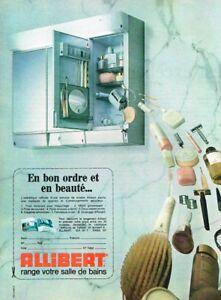 G- Publicité Advertising 1970 Armoire de toilette Plastique Allibert on