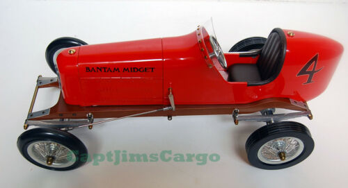 "Bantam Midget Red 1930s Tether Car Model 19/"" Replica Racing Spindizzy New"