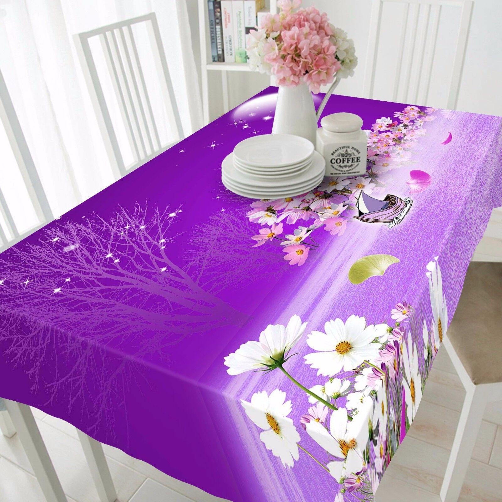 Fleurs 3D 836 Nappe Table Cover Cloth Fête D'Anniversaire événement AJ papier peint UK