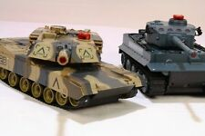 Radio / Control Remoto Rc Control infrared-m1a2 Tanque De Batalla Twin Pack scale1 Gold: 24 Niños Juguete