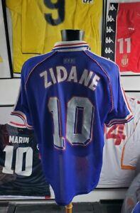 Maillot jersey shirt trikot camiseta maglia France 98 1998 zidane sans étoile XL