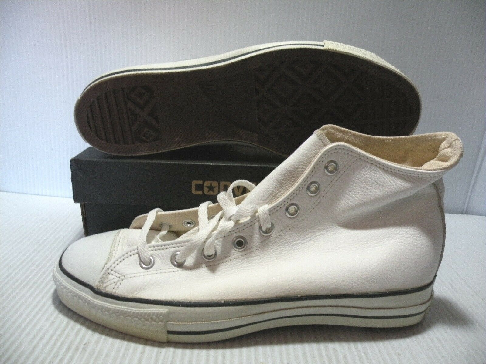 CONVERSE ALL STAR CT VINTAGE MADE IN USA Uomo SCARPE BIANCA 1J894 SIZE 11.5 NEW